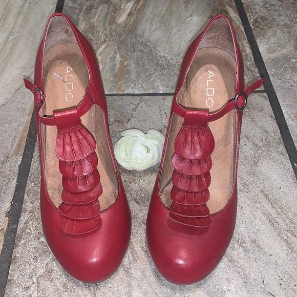 Chunky Red Aldo Heels